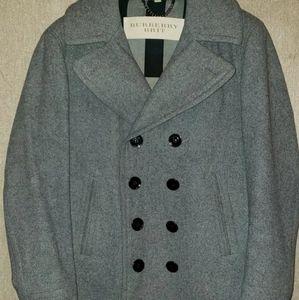 XL Men's Burberry Brit Grey Pea Coat